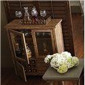 Riverside Furniture Sherborne Glass Door Bar Chest w/ Metal Casters
