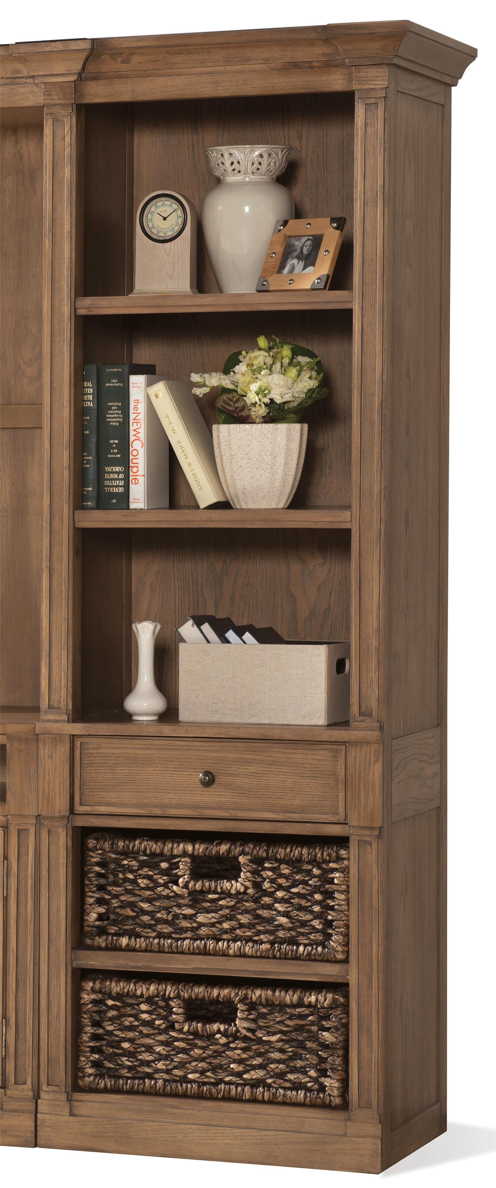 Riverside Furniture Sherborne Right Pier With 2 Included Woven Storage Baskets Prime Brothers