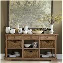 Riverside Furniture Sherborne Buffet w/ Woven Baskets