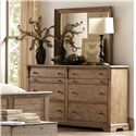 Riverside Furniture Sherborne 6 Drawer Dresser w/ Cedar Veneers