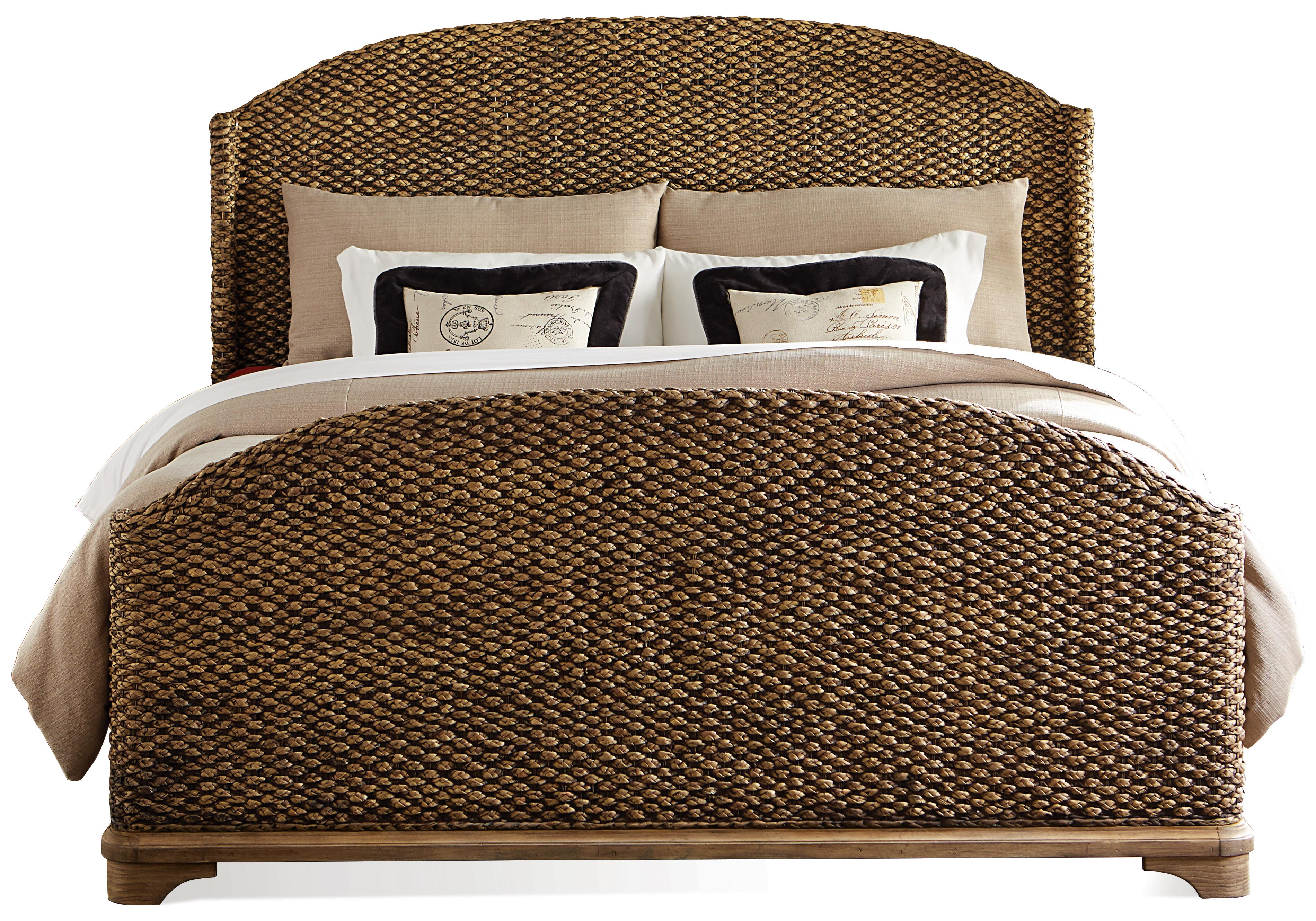Riverside Furniture Sherborne King Woven Seagrass Bed | Johnny ...
