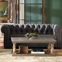 Riverside Furniture Sherborne Concrete Top Coffee Table with Fixed Bottom Shelf