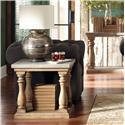 Riverside Furniture Sherborne Concrete Top Side Table w/ Wood Base