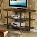 Riverside Furniture Sierra Rustically Styled Entertainment Console - Shown in Room Setting
