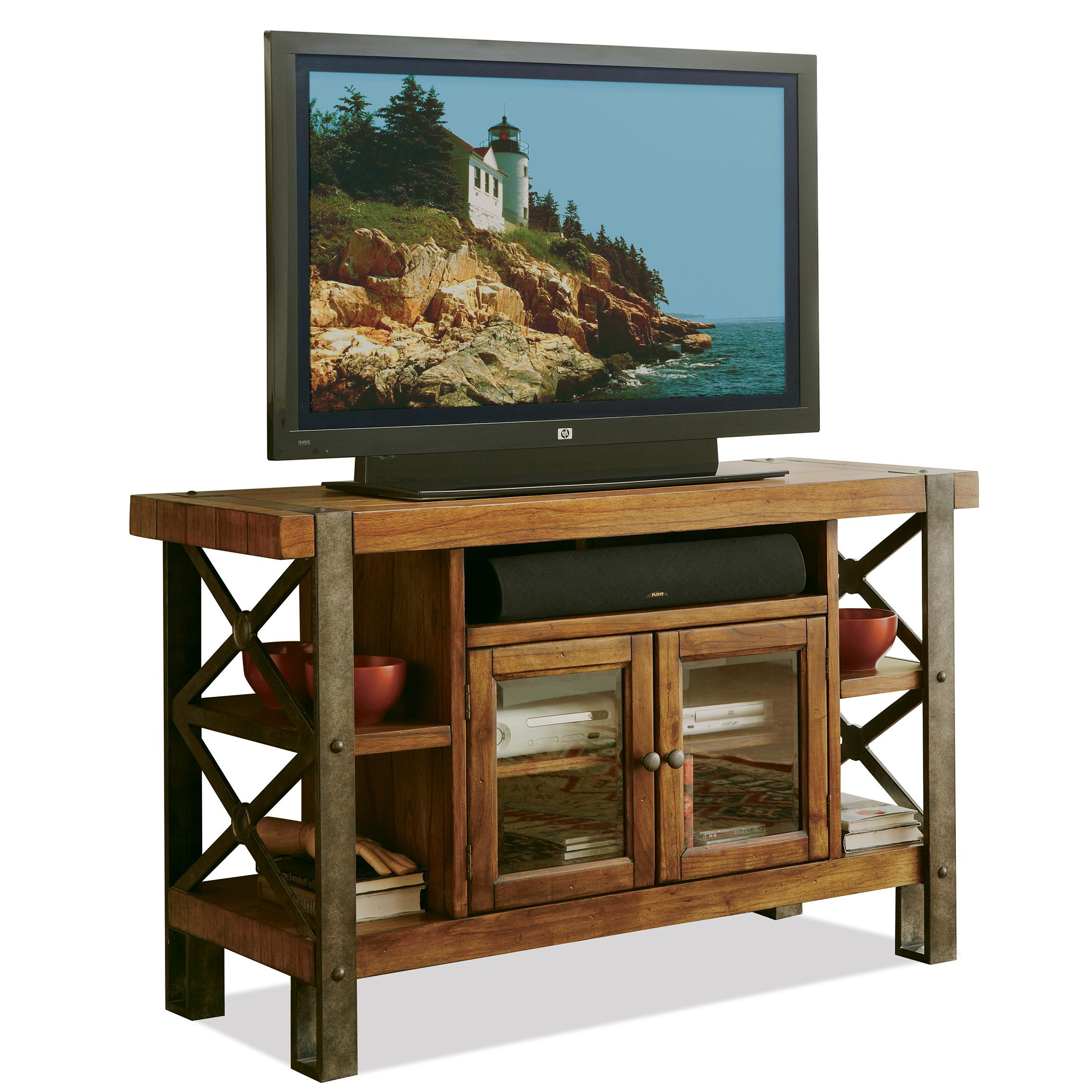 Riverside Furniture Sierra Rustic 52 In Tv Console W/ Shelving   AHFA   TV  Or Computer Unit Dealer Locator