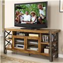 Riverside Furniture Sierra 68-Inch TV Console with 2 Doors & Shelving - Shown in Room Setting