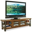 Riverside Furniture Sierra Rustic 80-In Tv Console w/ Glass Doors - 3442