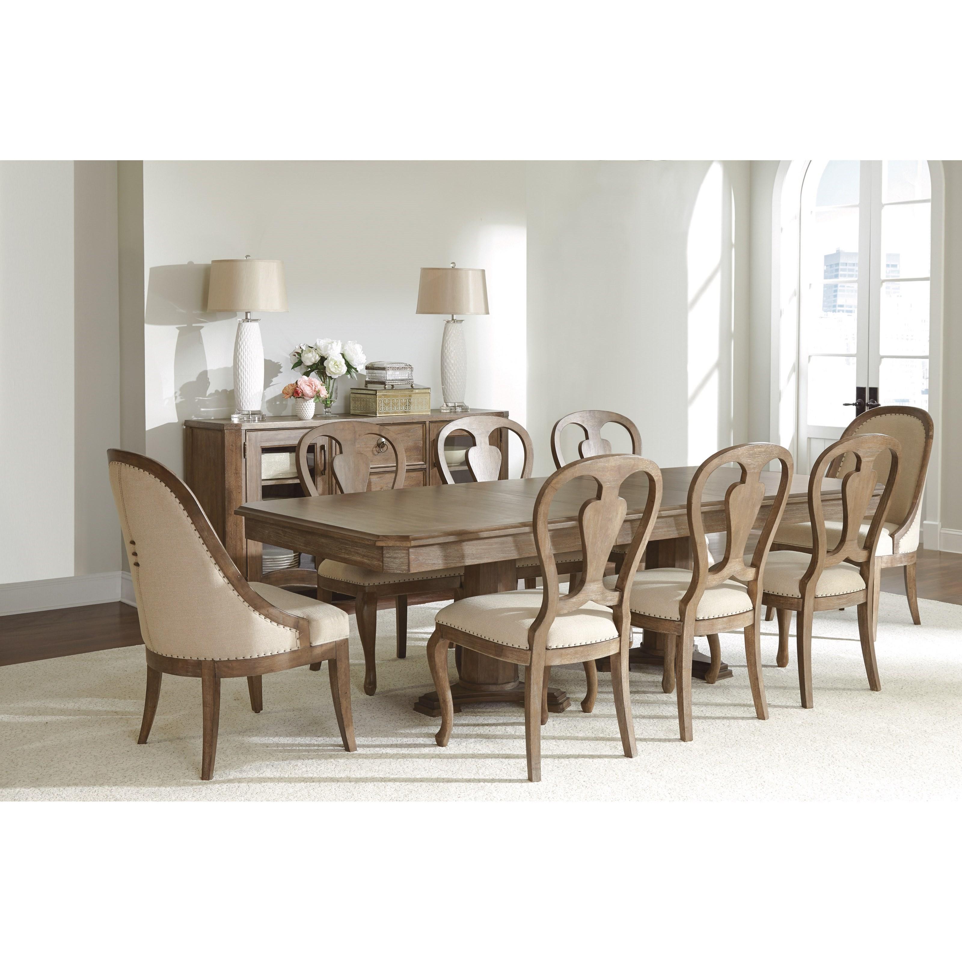 Riverside Furniture Somerset Lane Formal Dining Room Group | Dunk ...