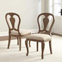 Riverside Furniture Somerset Lane Upholstered Side Chair with Decorative Seat Back