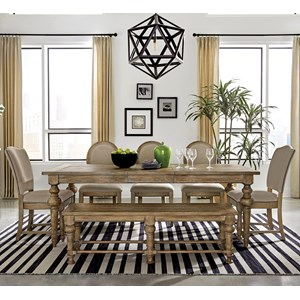7-Piece Table Set with Bench