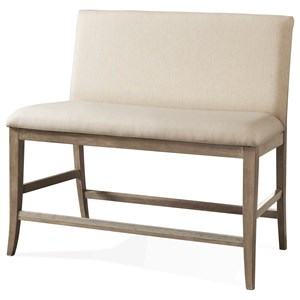 Upholstered Counter Stool Bench