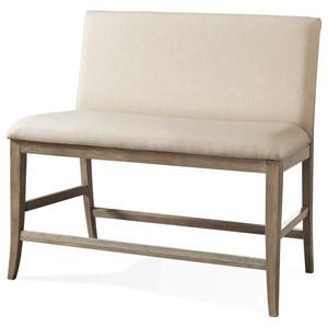 Riverside Furniture Sophie Upholstered Counter Stool Bench