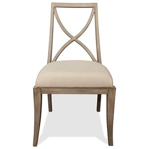 Riverside Furniture Sophie X-Back Upholstered Side Chair