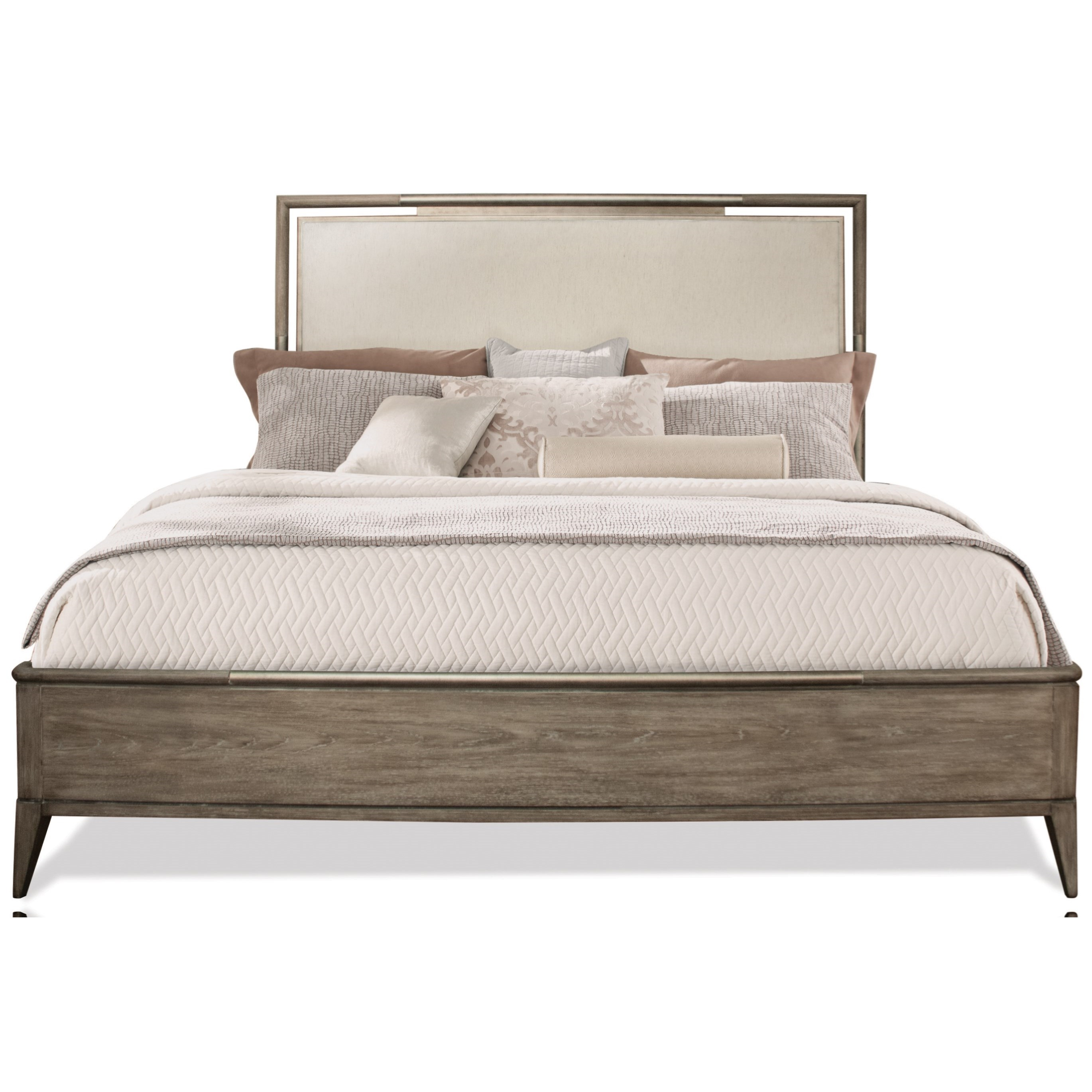 California King Upholstered Panel Bed