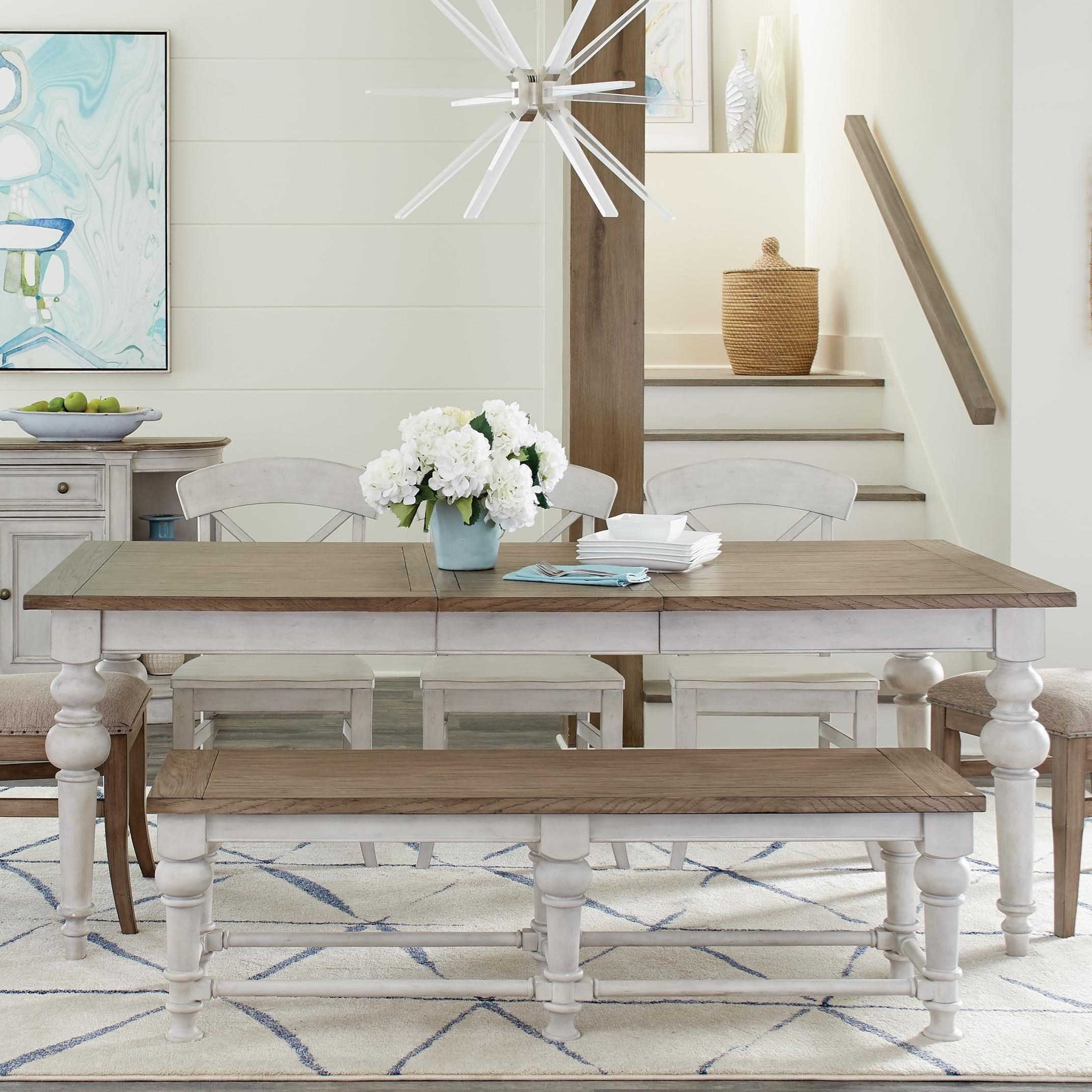 Riverside Furniture Southport Farmhouse Dining Table With Leaf A1 Furniture Mattress Dining Tables