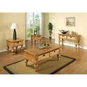 Riverside Furniture Summer Hill Coffee Table with Two Woven Storage Baskets