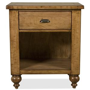 Riverside Furniture Summer Hill Nightstand with 1 Drawer
