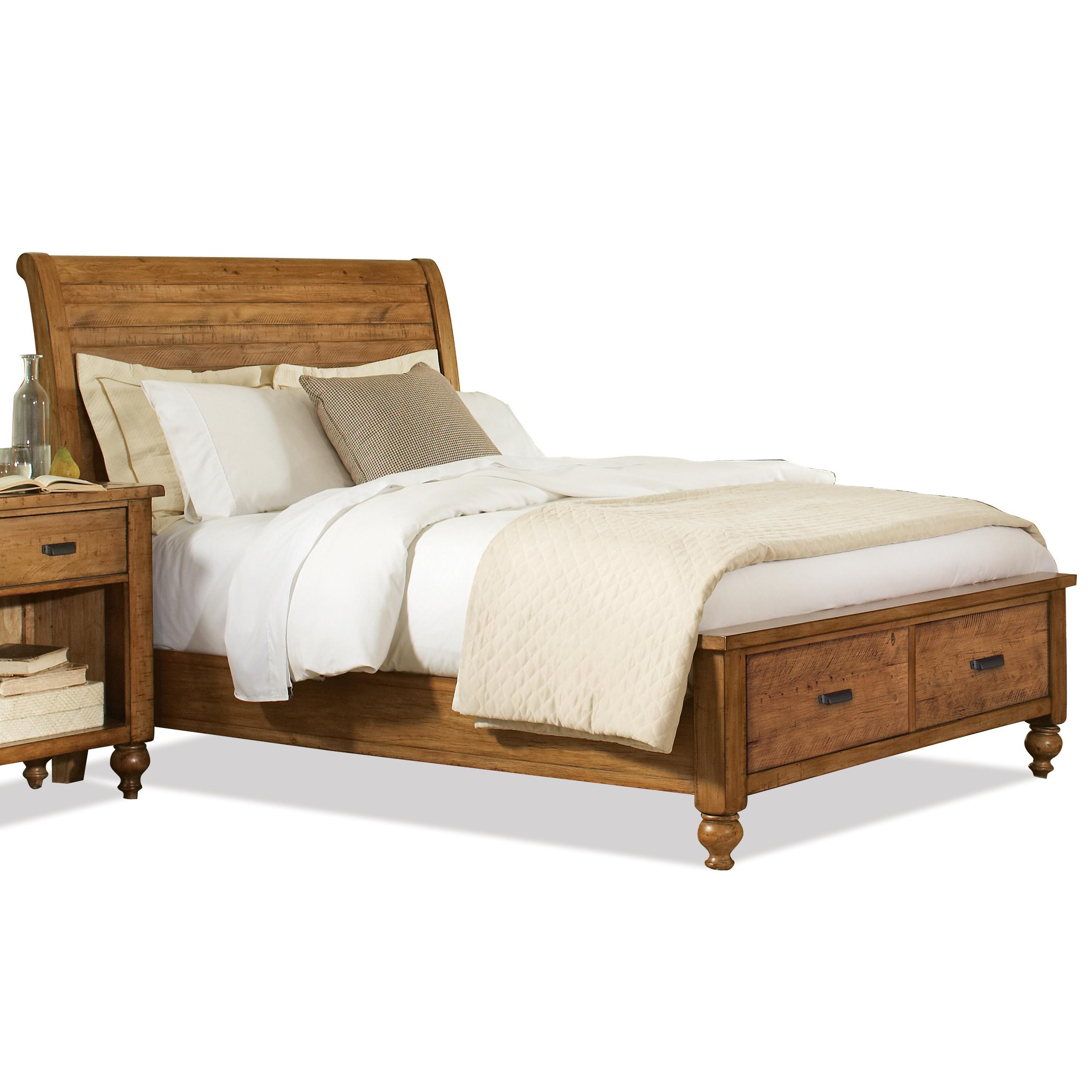 Riverside Furniture Summer Hill Queen Low Profile Storage Bed - AHFA - Platform or Low Profile Bed Dealer Locator  sc 1 st  Find Your Furniture : pine storage bed  - Aquiesqueretaro.Com