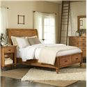 Riverside Furniture Summer Hill King Low Profile Storage Bed - Shown in Room Setting
