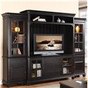 Riverside Furniture Summit 2 Pier Entertainment Wall Unit with Shutter Glass Doors - 41840+42+48+49 - Shown in Room Setting
