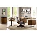 Riverside Furniture Terra Vista Double Pedestal Desk with File Drawers