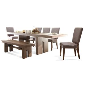 Riverside Furniture Terra Vista 7 PC Table Set