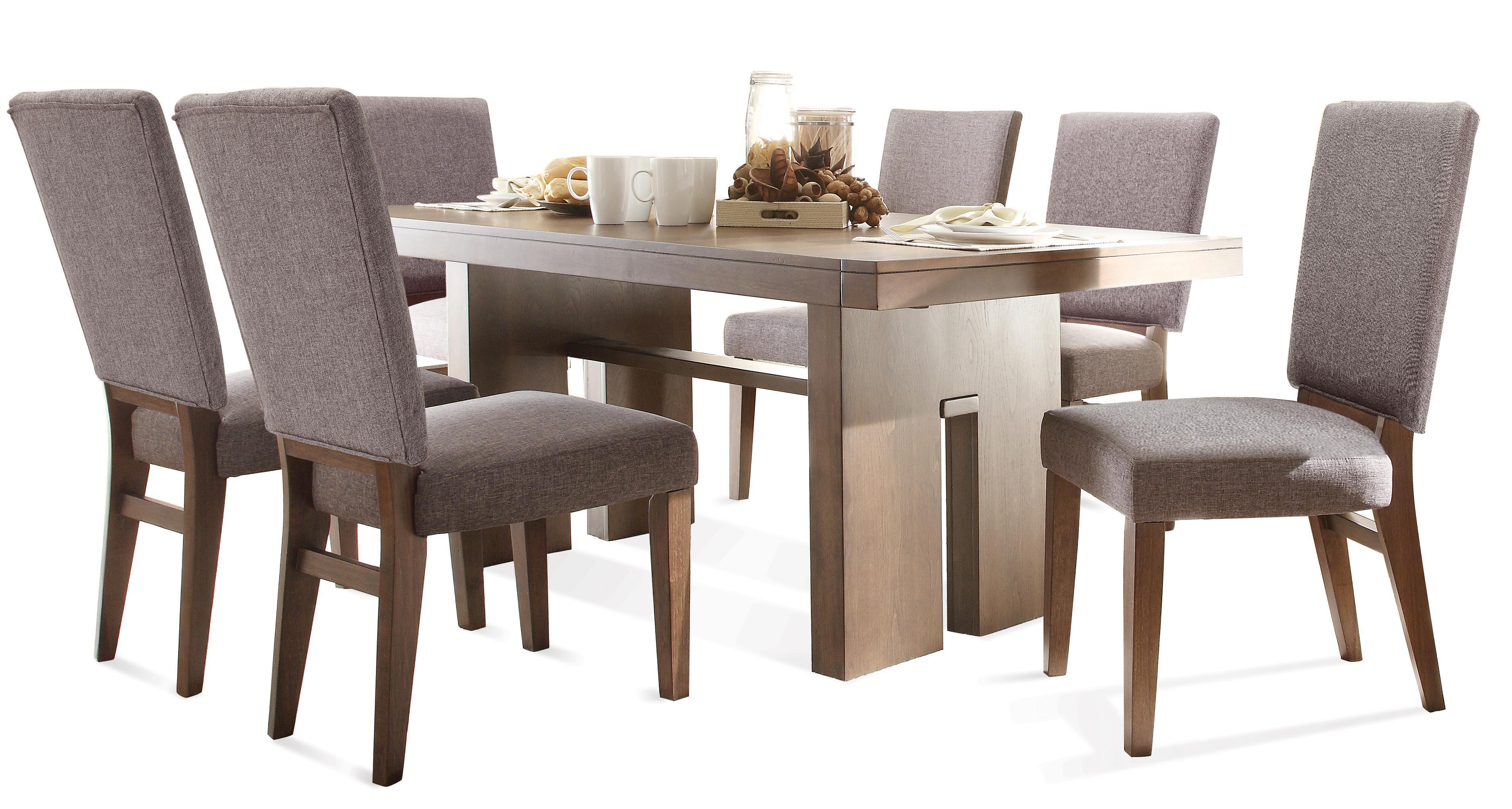 Riverside Furniture Terra Vista 7 PC Table & Chair Set - Item Number: 98850+51+6x57