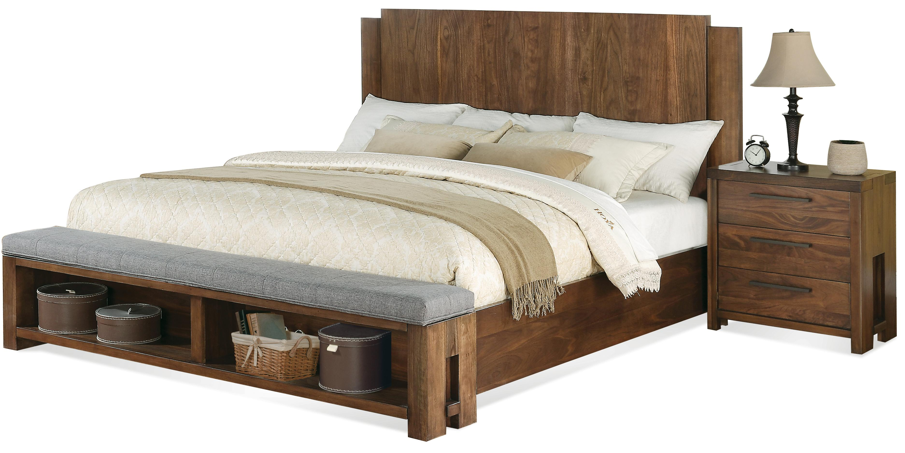 Terra Vista Cal King Low Profile Panel Bed W Bench By Riverside Furniture Wolf Furniture