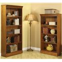 Riverside Furniture American Crossings 60 Inch Bookcase - 69028 - Shown with Coordinating 72 Inch Bookcase