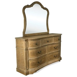 Riverside Furniture Verona Dresser and Mirror Combo