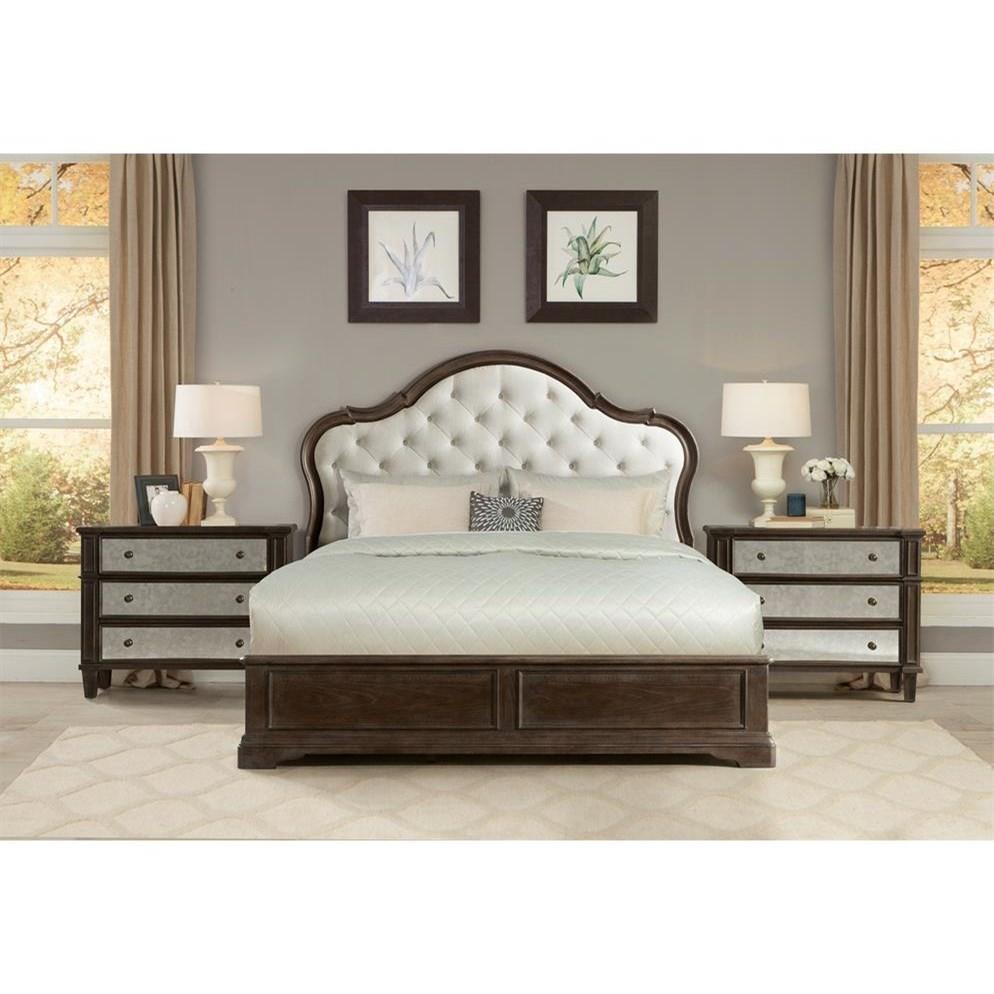Riverside Furniture Verona California King Bedroom Group - Item Number: 2490 CK Bedroom Group 6