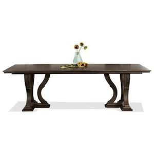 Riverside Furniture Verona Trestle Dining Table