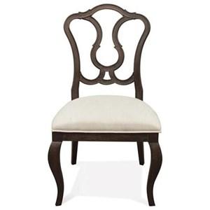 Riverside Furniture Verona Splat Back Upholstered Side Chair