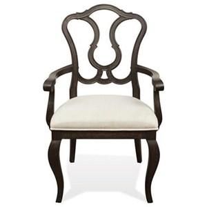 Riverside Furniture Verona Splat Back Upholstered Arm Chair