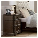 Riverside Furniture Verona 3-Drawer Nightstand with Electric/USB Outlet Bar