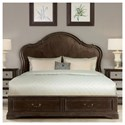 Riverside Furniture Verona California King Panel Storage Bed with 2 Footboard Drawers
