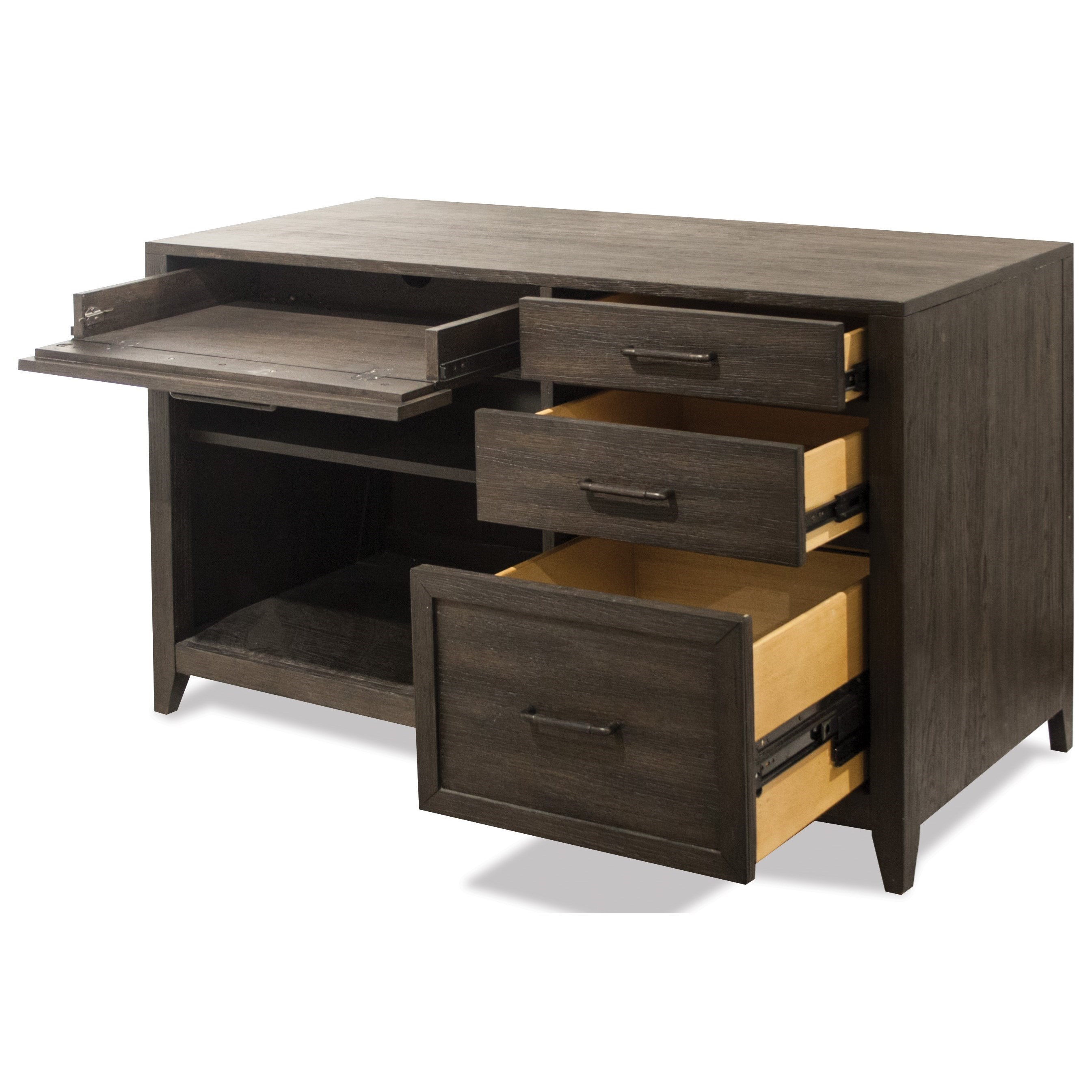 Office Furniture: Riverside Furniture Vogue Computer Credenza With Top Drop