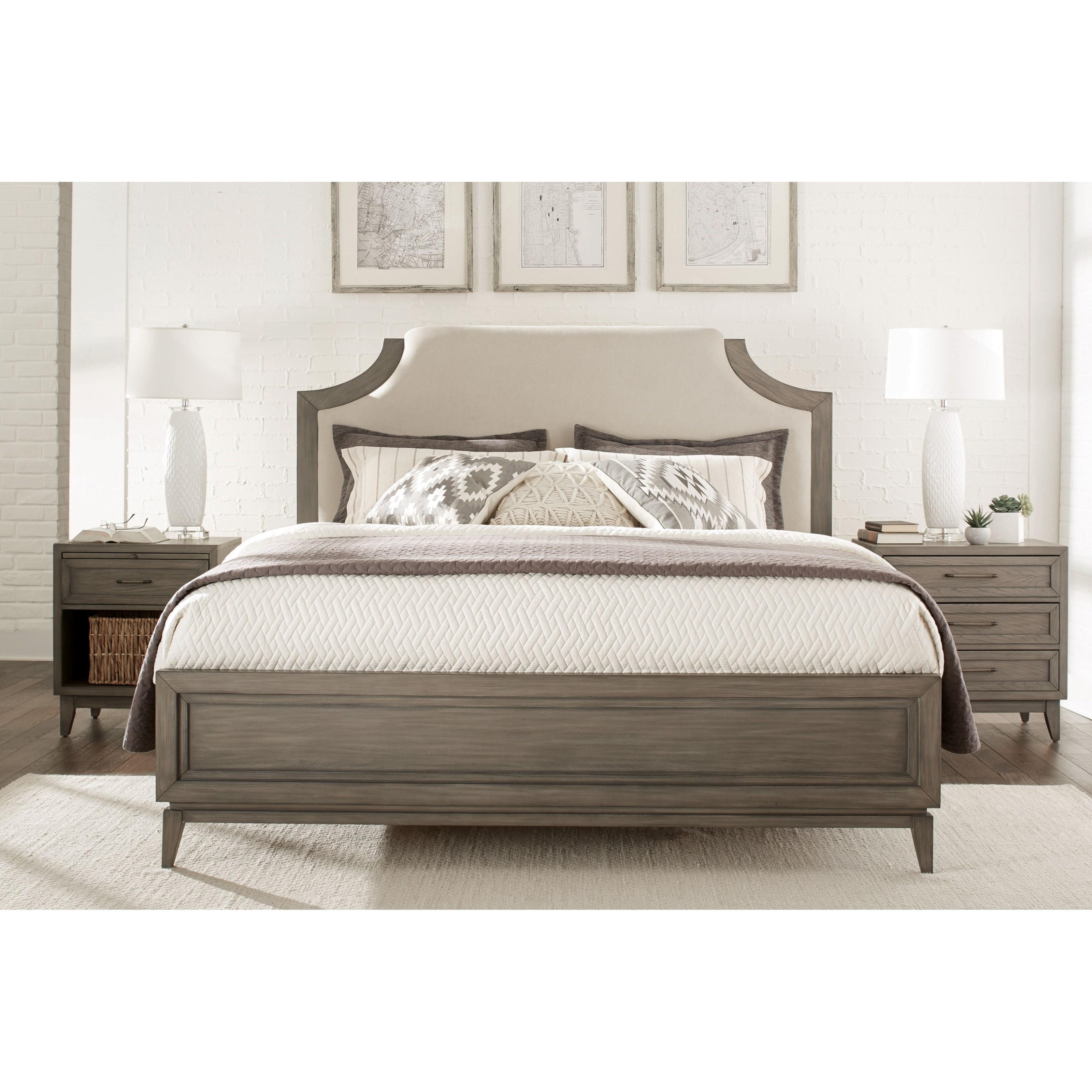 Bedroom Furniture Manufacturer: Riverside Furniture Vogue King Bedroom Group 3