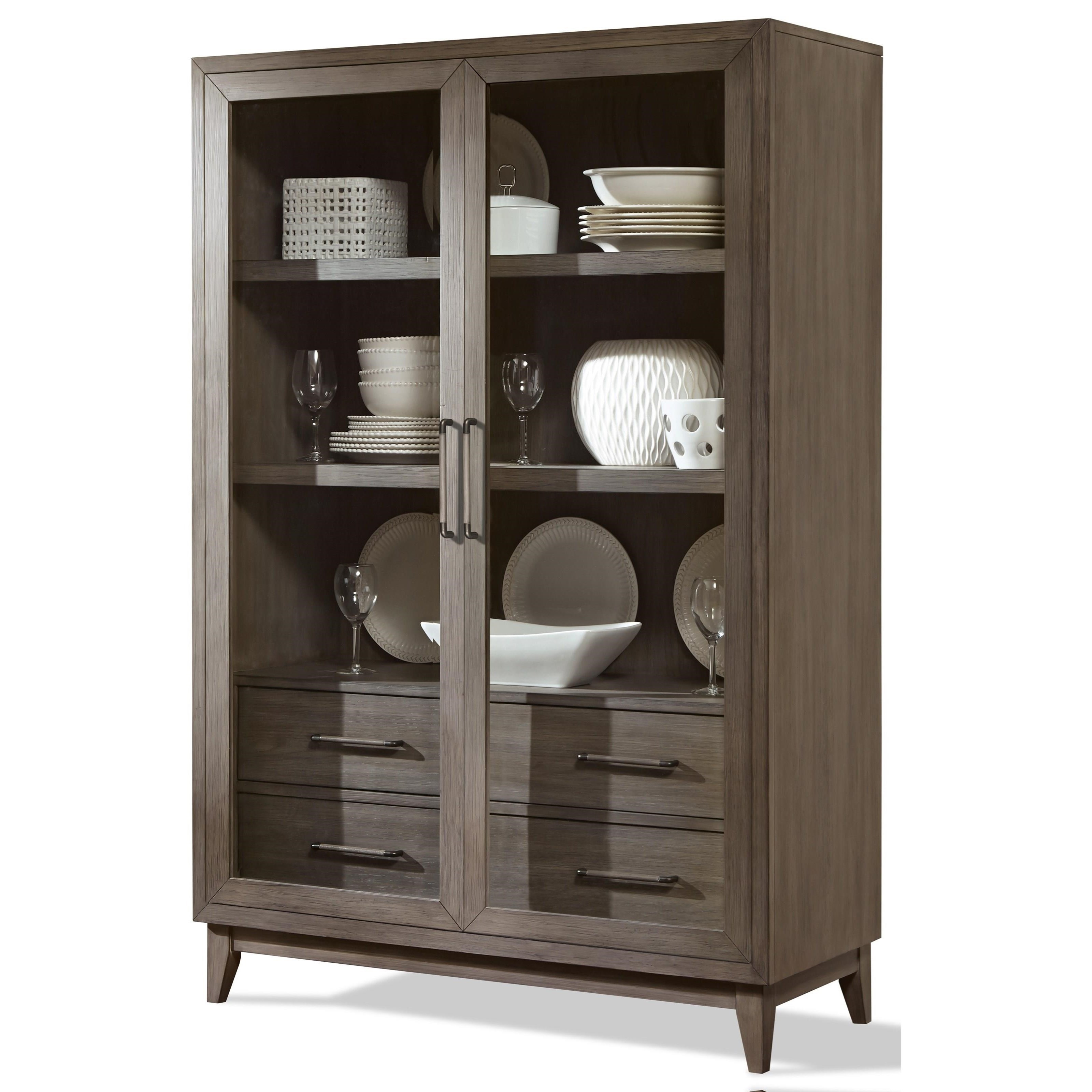 Riverside Furniture Vogue 46155 Display Cabinet With Full