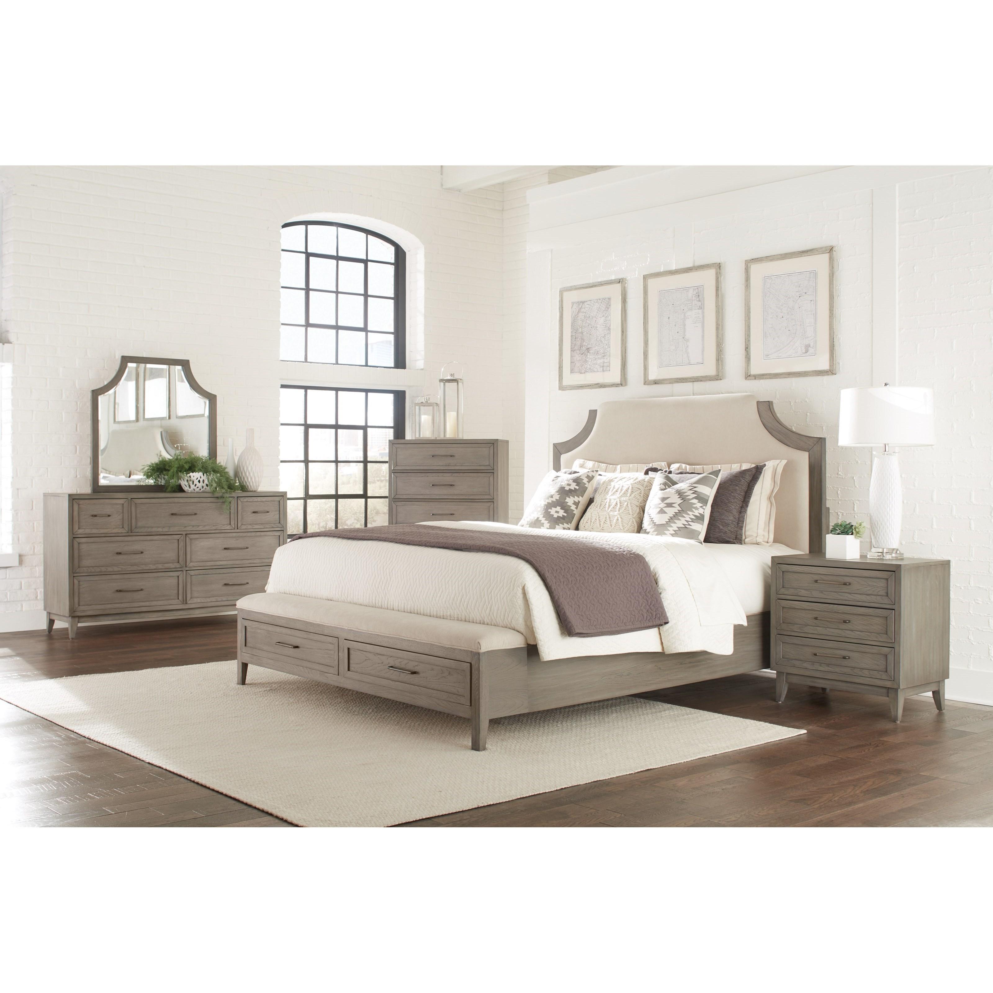 Riverside Furniture Vogue King Upholstered Bed With