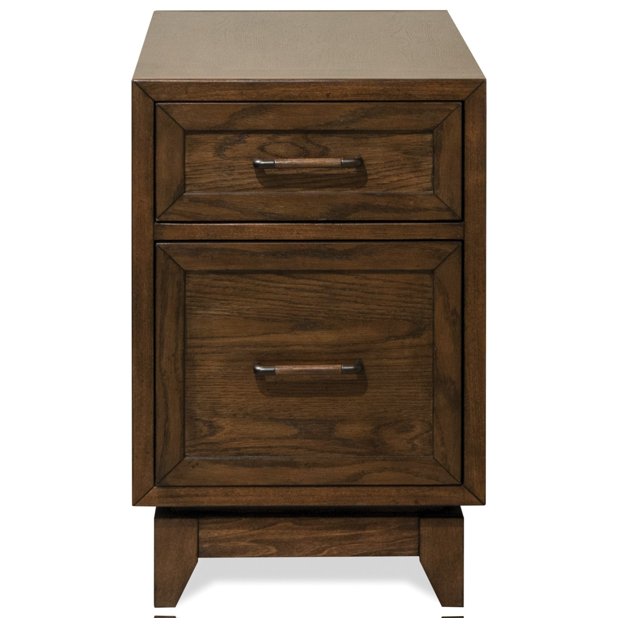 Riverside Furniture Vogue 2 Drawer Chairside Table With Side Shelves