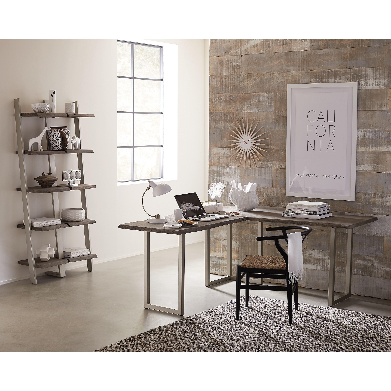 Office Furniture: Riverside Furniture Waverly L-Desk With Live Edge Top