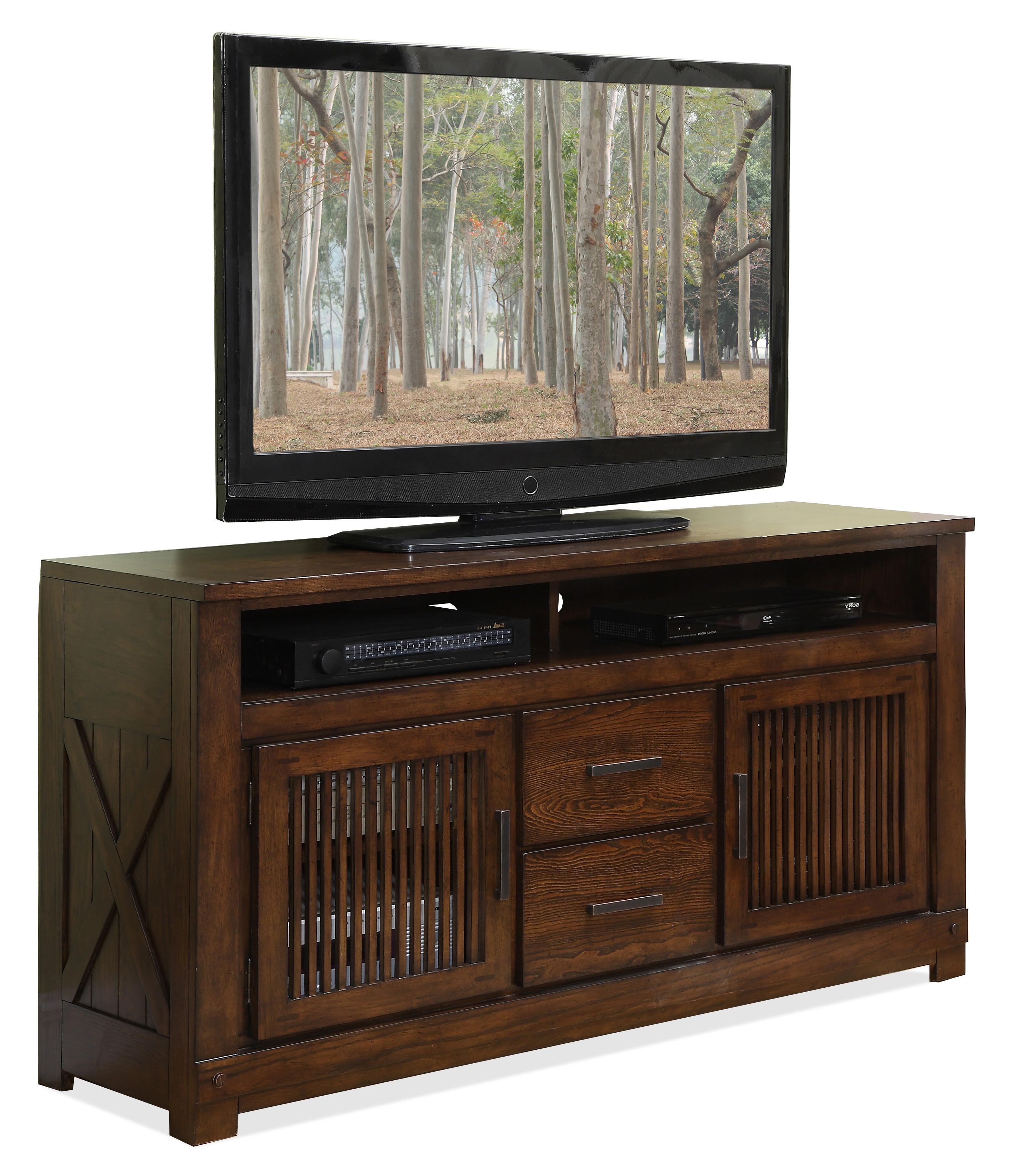 Riverside Furniture Windridge 2 Door TV Console With 2 Center Drawers    AHFA   TV Or Computer Unit Dealer Locator