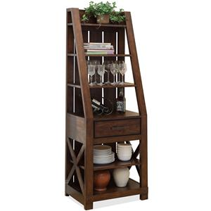 Windridge  Entertainment Pier with 6 Shelves by Riverside Furniture