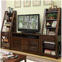 Riverside Furniture Windridge  Entertainment Pier with 6 Shelves - 76548 - Shown as Entertainment Wall Unit