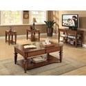 Riverside Furniture Windward Bay Rectangular Coffee Table with Woven Rattan Accents