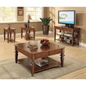 Riverside Furniture Windward Bay 1 Drawer Side Table with Woven Rattan Accents