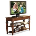 Riverside Furniture Windward Bay 2 Drawer Console Table in Warm Rum Finish