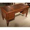 Riverside Furniture Windward Bay 5 Drawer Writing Desk in Warm Rum Finish