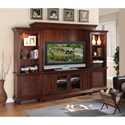Riverside Furniture Windward Bay Entertainment Wall Unit with Built-In Lighting